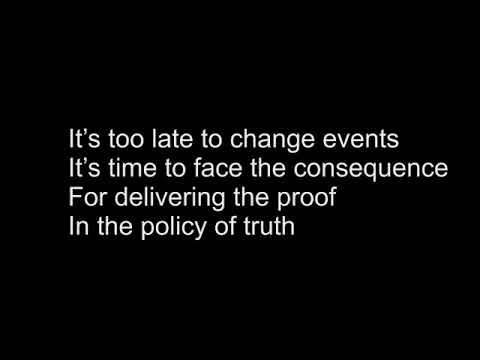 Depeche Mode - Policy of Truth - Karaoke
