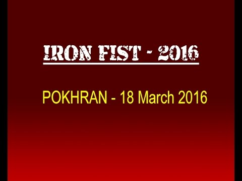 INDIAN AIR FORCE AIR POWER DEMONSTRATION - IRON FIST 2016