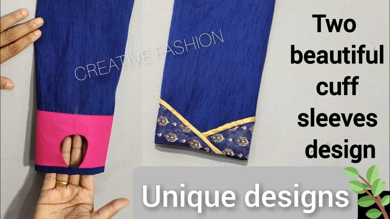 दो तरह के सुंदर  cuff sleeve designs