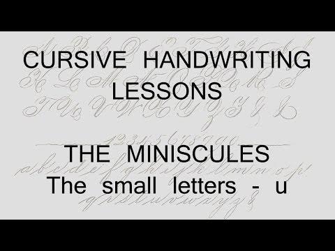 cursive lesson 4 - u - handwriting penmanship calligraphy copperplate