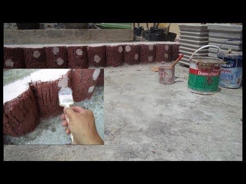 Membuat sendiri  material untuk  taman minimalis didepan rumah