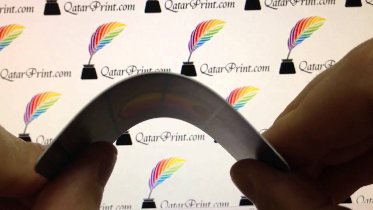 Pvc business card 500 micron - YouTube