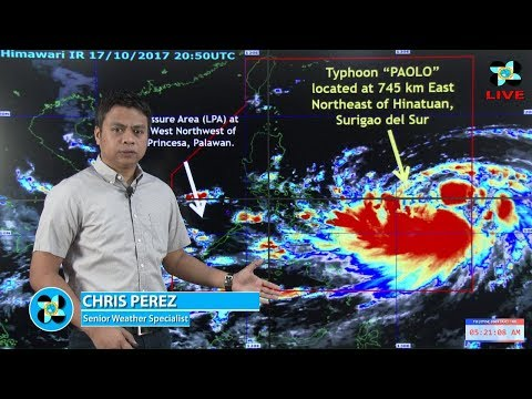 Public Weather Forecast Issued at 4:00 AM October 18, 2017