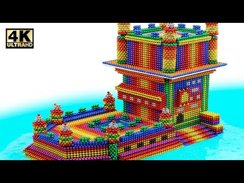 DIY - How To Build Amazing Castle On Water From Magnetic Balls (Satisfying) | Magnet World Series