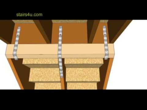 How To Repair Upper Stair Stringers Hanging Below Floor