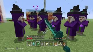 Minecraft witch battle clip