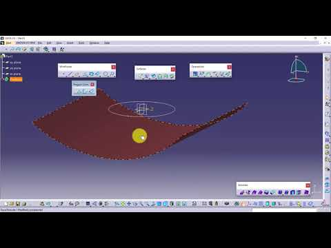 11-3-Catia Shape (Yüzey-Surface) 3- Projection-Combine