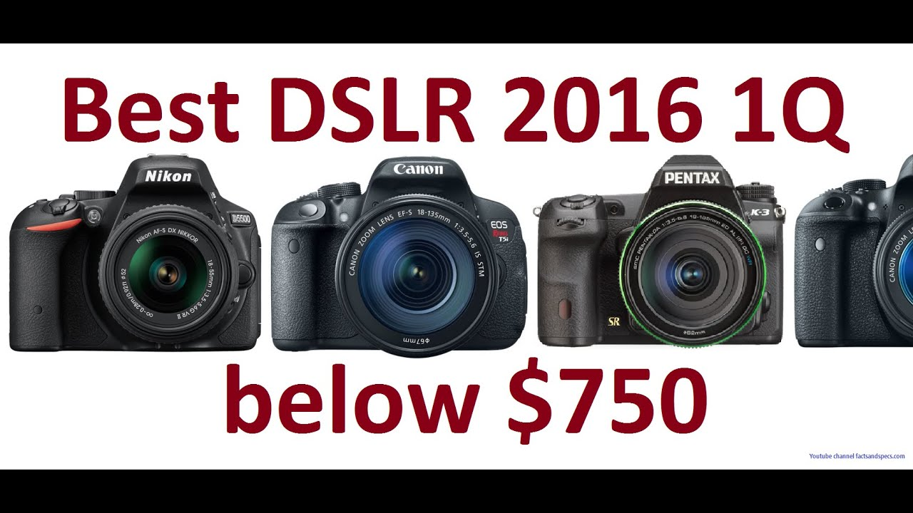 Best DSLR Cameras for beginners 2016 below $750 | Top 5 1Q - YouTube