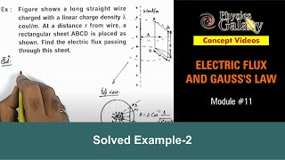 11. Class 12 Physics | Electric Flux | Solved Example-2 on Electric Flux | by Ashish Arora