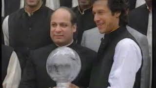 1992 World Cup Ceremony- Imran Khan Nawaz Sharif. (Nawaz Sharif 1990 to 2017)