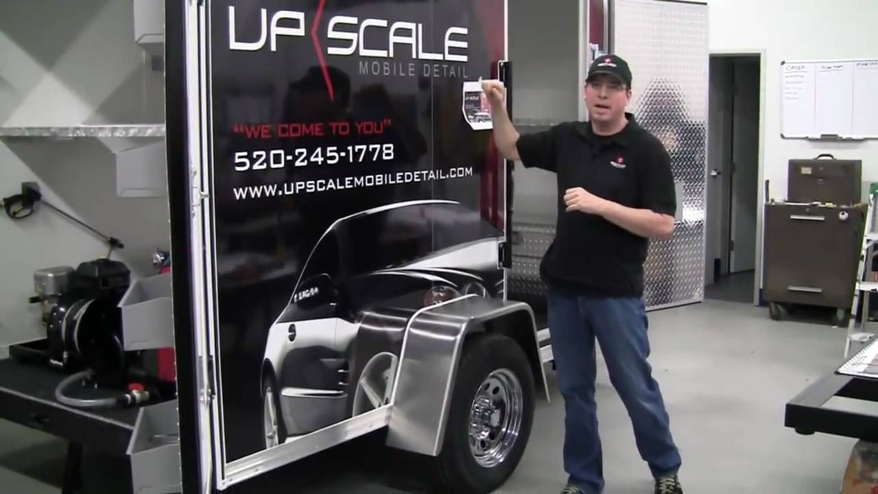 9800 Mobile Auto Detailing Trailer For Professional Auto