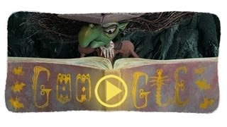 Halloween Witch Google Doodle - October 31, 2013 - Halloween 2013 Google Doodle. Google celebrates Halloween with a scary animated und interactive Google Doodle.