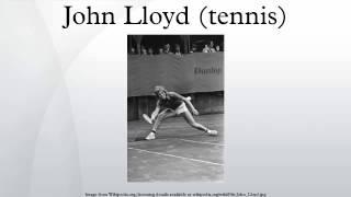 John Lloyd (tennis)
