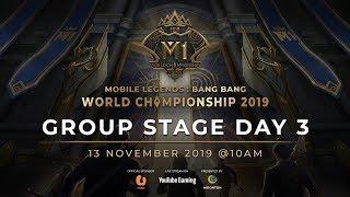 Trực tiếp: MLBB World Championship 2019 Ngày 3-Bảng C