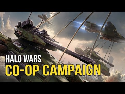 Halo Wars - Campaign Co-Op  (Shack & Tex fight the Covenant)