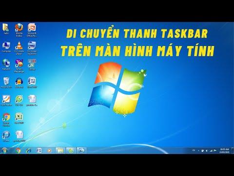 Cách di chuyển thanh Taskbar trên Màn Hình máy tính Windows 7 - Dành cho người mới