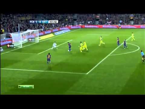 Gol de Xavi no visto por el Arbitro Barcelona vs Getafe , Liga BBVA 10 04 012 thumbnail