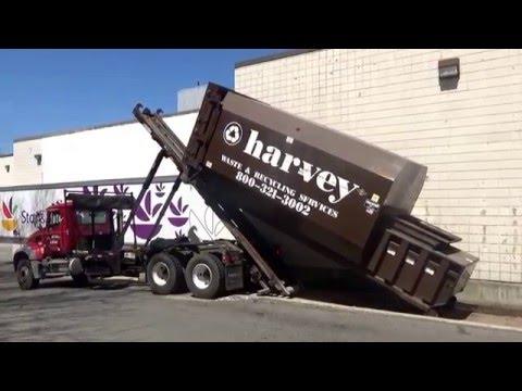 Harvey Waste & Recycling Services 143 ~ Mack Granite GU713 American Rolloff