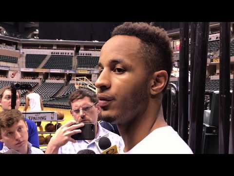 Purdue's Vince Edwards after working out for the Pacers