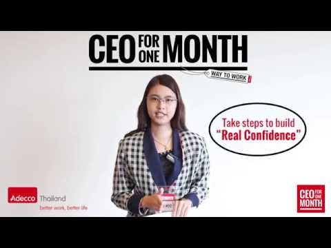 Adecco Thailand's CEO for one Month the winner 2015