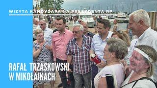 Trzaskowski z kampanijną wizytą w Mikołajkach