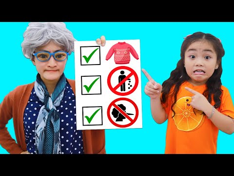 Annie Pretend Play Learning Good Behavior and Not to Tell Lies to Her Grandma