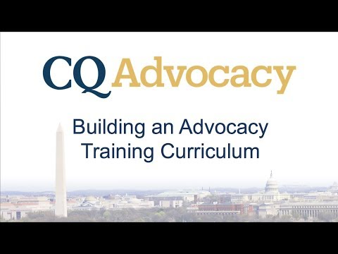 Building Your Advocacy Curriculum