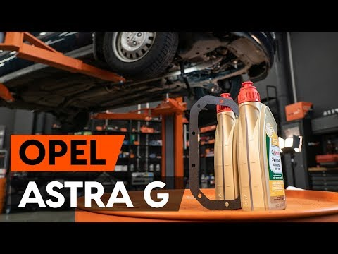 How To Replace Transmission Oil / Gear Oil On OPEL ASTRA G CC (F48, F08) [TUTORIAL AUTODOC]