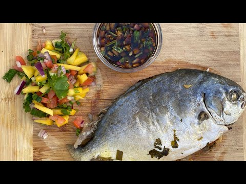 ASMR Cooking: Grilled Pompano
