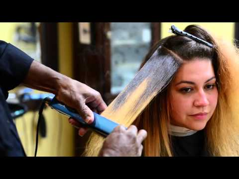 How to flat iron your hair properly