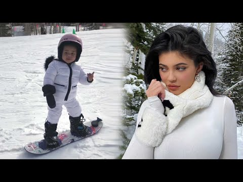 Stormi Webster Isn't Even Two and She Already SNOWBOARDS