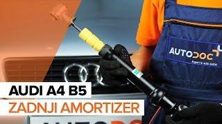 Kako zamenjati Blažilnik AUDI A4 (8D2, B5) - priročnik