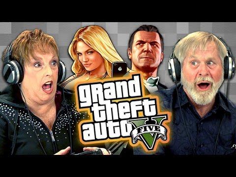 Elders Play Grand Theft Auto V (Elders React: Gaming)