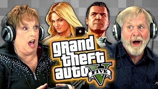 Elders Play Grand Theft Auto V (Elders React: Gaming)(SUBSCRIBE TO THE REACT CHANNEL: http://goo.gl/c5TeQI Watch all episodes of GAMING: http://goo.gl/TVhuol Watch all REACT channel videos from this ..., 2015-01-21T18:00:03.000Z)