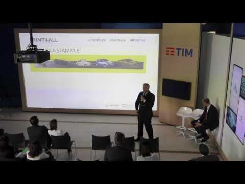 PRINT4ALL conference 18 maggio 2016 TIM SPACE
