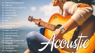 Best English Acoustic Love Songs 2021 - Ballad Guitar Acoustic Music Cover Of Popular Songs Ever