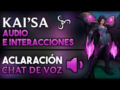 Kai'Sa:Interacciones - Aclaración: CHAT DE VOZ | Noticias League of Legends