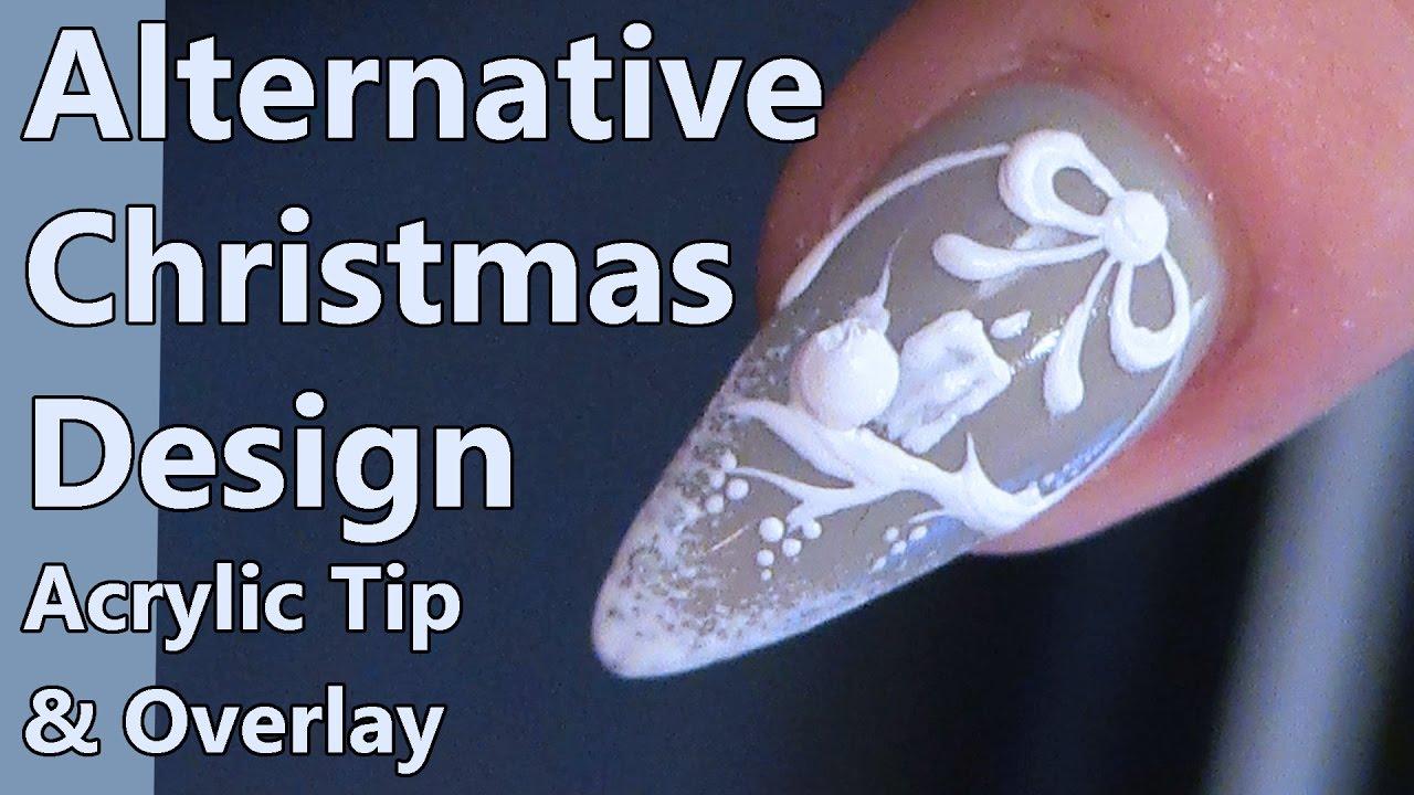 Alternative Christmas Nail Design Acrylic Sculpting Short Almond