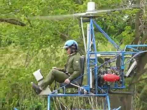 Homebuilt Coaxial Helicopter. Japan