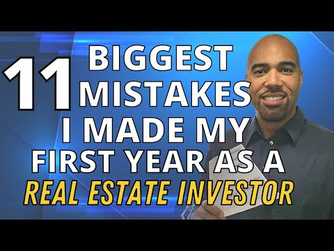 11 Biggest Mistakes my 1st year as a real estate investor