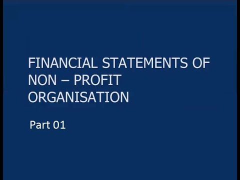 Financial Statements Of Not-for-Profit Organisations - ICAI : Part 01