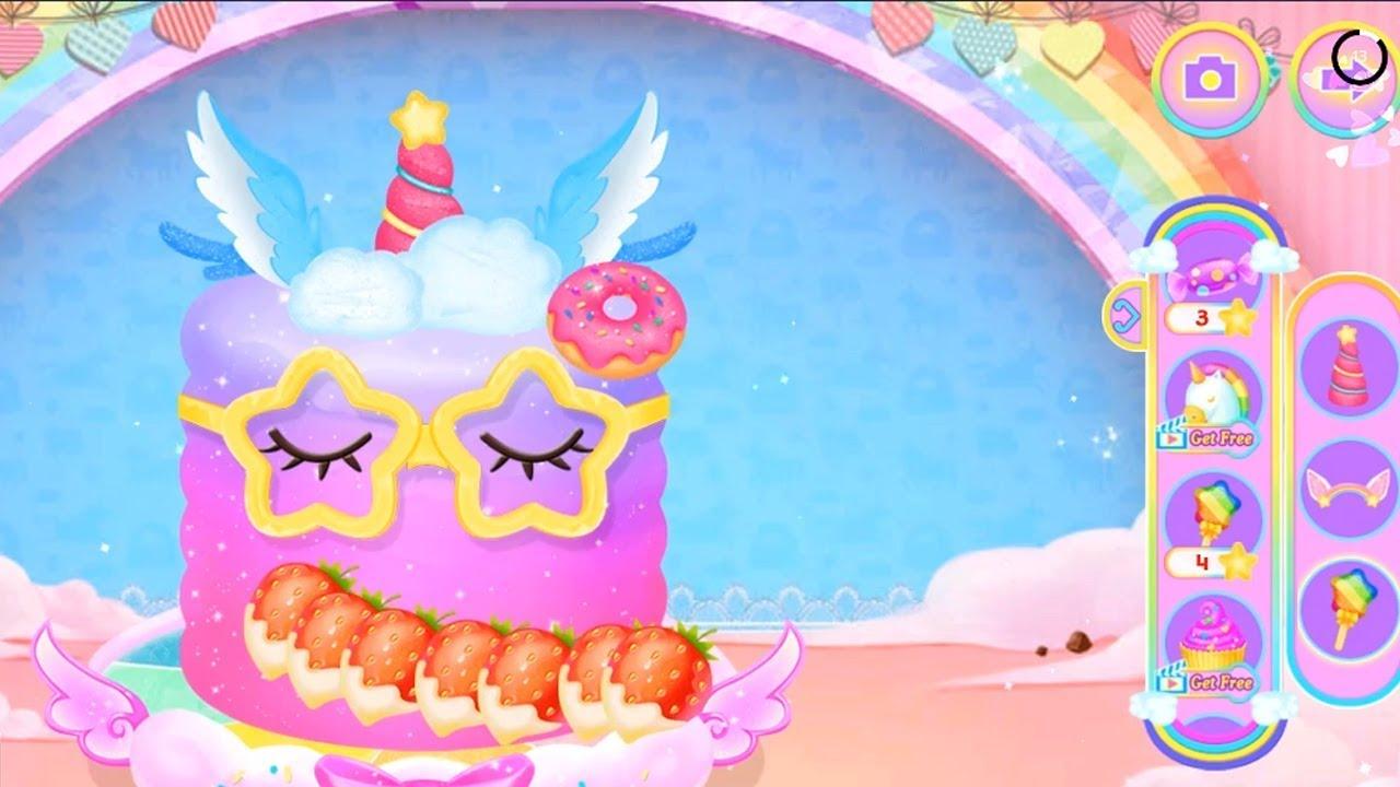 Princess Libby Rainbow Unicorn - Cute Princess Cake & Cooking Games - Be hoc be choi