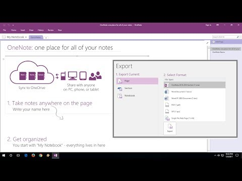 How To Convert OneNote File Into MS Word, PDF, Web Page (No Software)