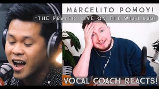 Vocal Coach Reacts! Marcelito Pomoy! 'The Prayer' Live On The Wish Bus!