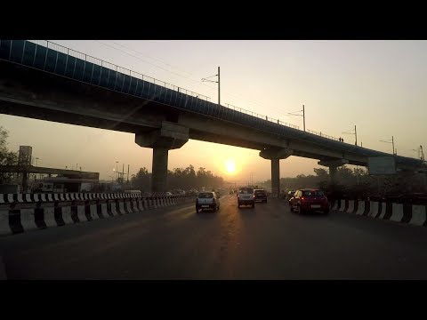 Driving on NH24 (Ghaziabad to Delhi) - India