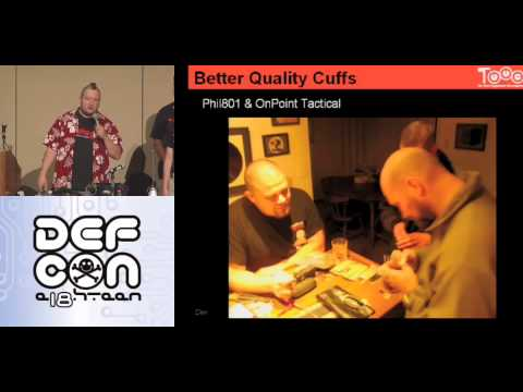 DEF CON 18 - Toool - The Search for Perfect Handcuffs... and the Perfect Handcuff Key