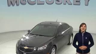 A98494DT Used 2014 Chevrolet Cruze Sedan Gray Test Drive, Review, For Sale -