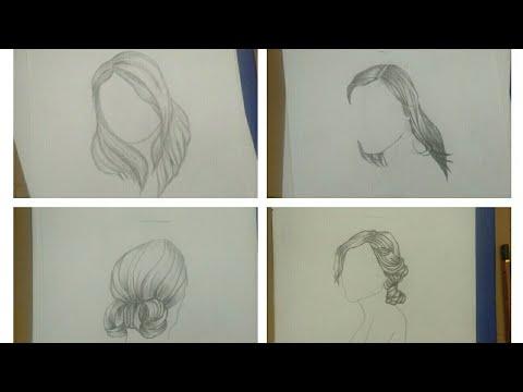 [Tập vẽ] _ Vẽ tóc nữ đơn giản bằng bút chì (p. 2)