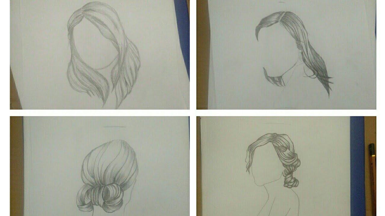 [Tập vẽ] _ Vẽ tóc nữ đơn giản bằng bút chì (p. 2)   Tổng hợp những kiểu tóc nữ đẹp mới nhất