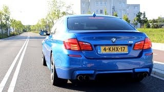 bmw m5 f10 tries launch control accelerating sounds full hd 1080